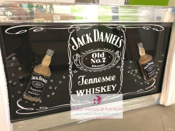 ** Jack Daniels 3d Bottle Art in a Mirrored Frame ** 114cm x 65cm item in stock