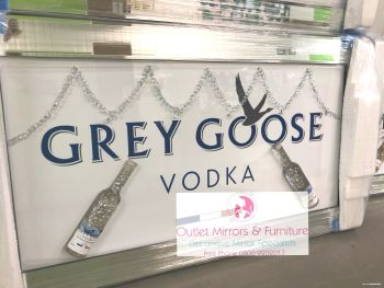** Grey Goose 3d Bottles Art in a Mirrored Frame ** 114cm x 65cm item in stock