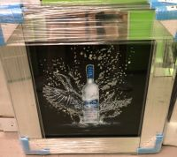 ** Grey Goose  Glitter Art Mirrored Frame ** 57cm x 57cm  in stock for a quick delivery