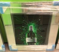 ** Gordons Gin Glitter Art Mirrored Frame ** 57cm x 57cm  in stock for a quick delivery
