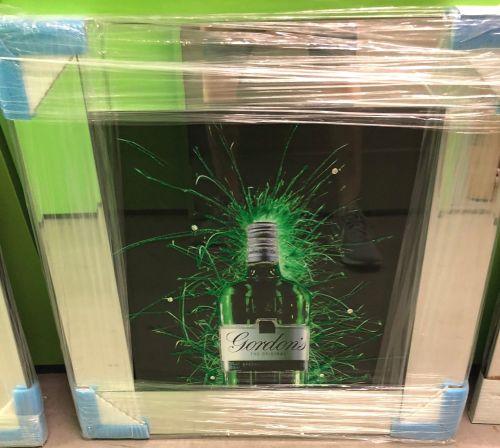 ** Gordons Gin Glitter Art Mirrored Frame ** 57cm x 57cm  in stock for a qu