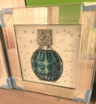 "Mirror framed Sparkle Glitter Art ""Jimmy Choo Perfume"" in stock for a quick delivery"