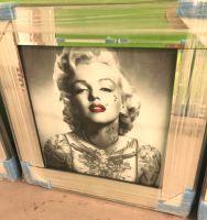"Mirrored framed art print ""Glitter Monroe Tattoo"" 55cm x 55cm"