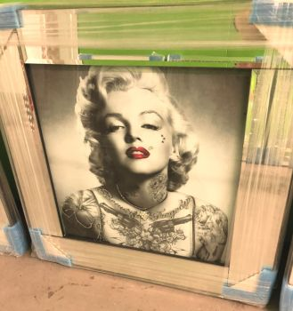 "Mirrored framed art print ""Glitter Monroe Tattoo"" item in stock"