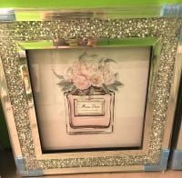 """Miss Dior Blooming Bouquet "" Wall Art in a diamond crush frame in stock"