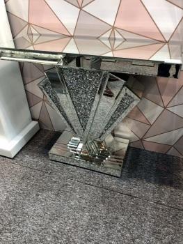 *Diamond Crush Sparkle Crystal Art Deco Console Table 2