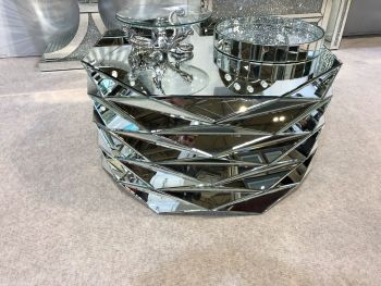 New Prism Silver Mirrored Coffee Table