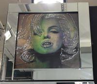 """Mirrored framed art print """"Glitter Monroe"""""""