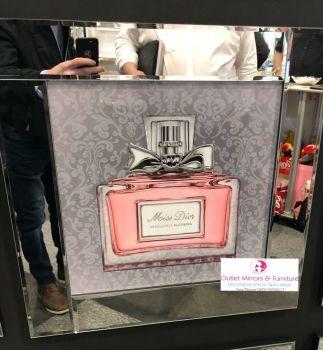 """Mirror framed Sparkle Glitter Art """"Miss Diva Absolutley Bouquet"""""""