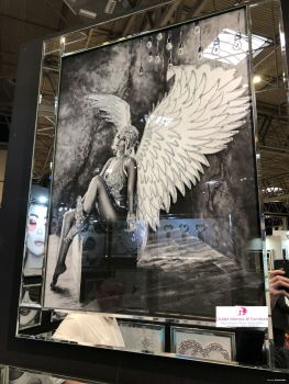 Media Art Glamour Lady Angel 2 Sparkle Art in a mirrored frame