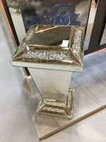 * Diamond Crush Sparkle Crystal Mirrored Pedestal large 80cm high