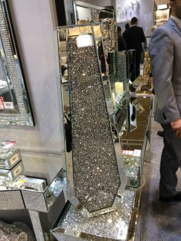 * New Diamond Crush Sparkle Crystal Mirrored Vase