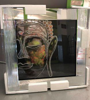 "Mirror framed art print ""Buddha"" 60cm x 60cm"