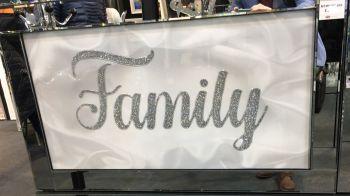 "Mirror framed art print "" Sparkle Family"" 100cm x 60cm"