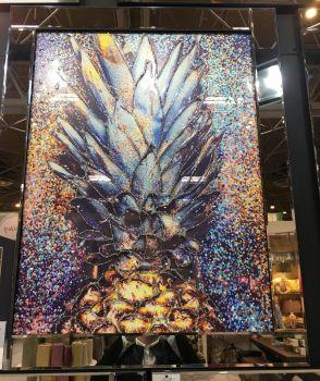 """Mirror framed art print """"Pineapple Burst"""" 100cm x 60cm"""