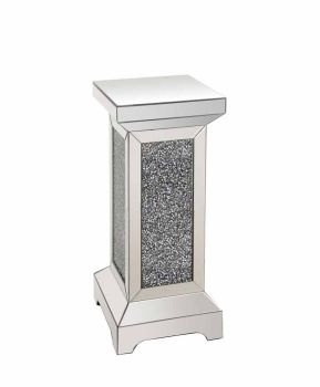 * Diamond Crush Sparkle Crystal Mirrored Pedestal large 70cm high