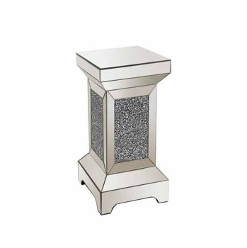 * Diamond Crush Sparkle Crystal Mirrored Pedestal large 50cm high