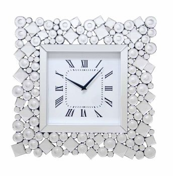 Jewel Crystal Wall Clock Square 49cm x 49cm