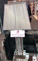 *Diamond Crush Crystal Pillar 2 Mirrored Lamp with shade in stock
