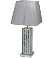 *Diamond Crush Crystal Sparkle Mirrored Lines Table Lamp in stock