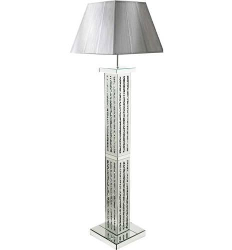 promo code d901c 29a2c ^Diamond Crush Crystal Sparkle Mirrored lines Floor Lamp silver or white  shade 30.5cm x 142cm in stock