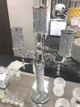 * Diamond Crush Sparkle Candelabra 3 item in stock