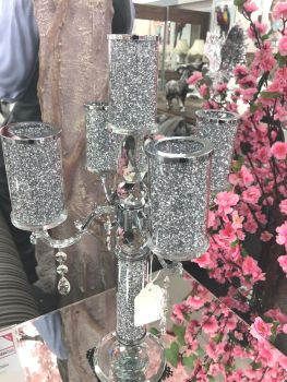* Diamond Crush Sparkle Candelabra 5 item in stock