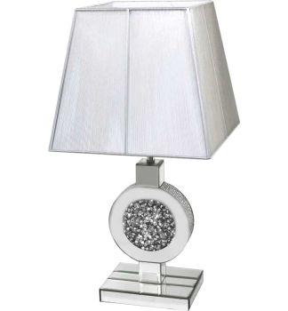 *Diamond Crush Sparkle Circular centre Table Lamp