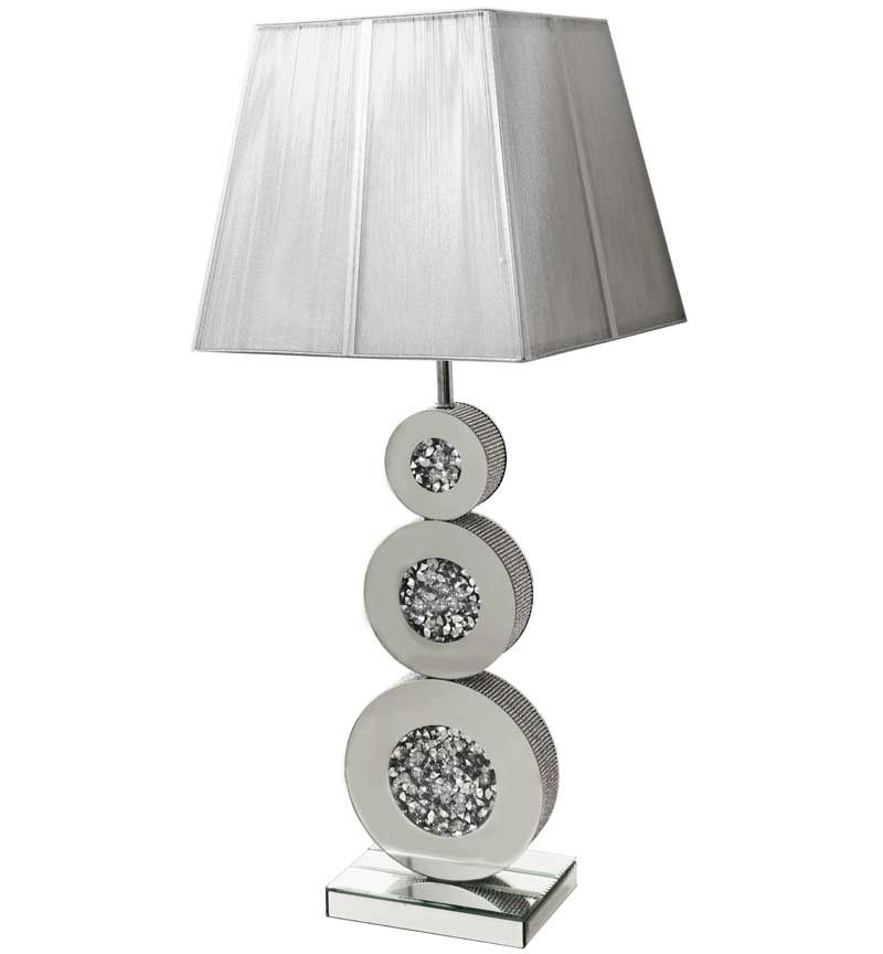 Diamond Crush Sparkle Circles Table Lamp