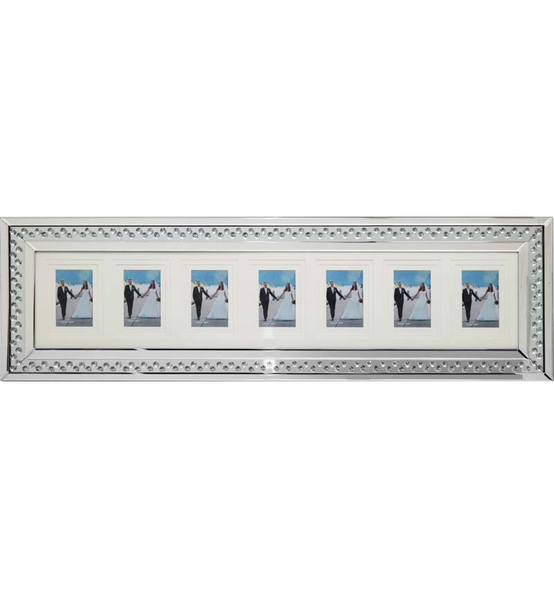 Floating Crystals Mirrored Photo DIsplay Frame 100cm x 35cm now instock