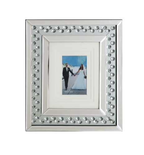 Floating Crystals Mirrored Photo Frame large 40cm x 35cm item instock fast