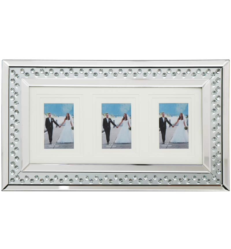 Floating Crystals Mirrored Photo Frame 60cm x 35cm