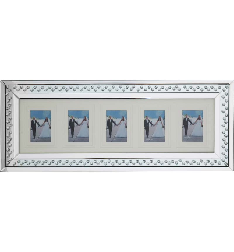 Floating Crystals Mirrored Photo Display Frame 80cm x 35cm now instock