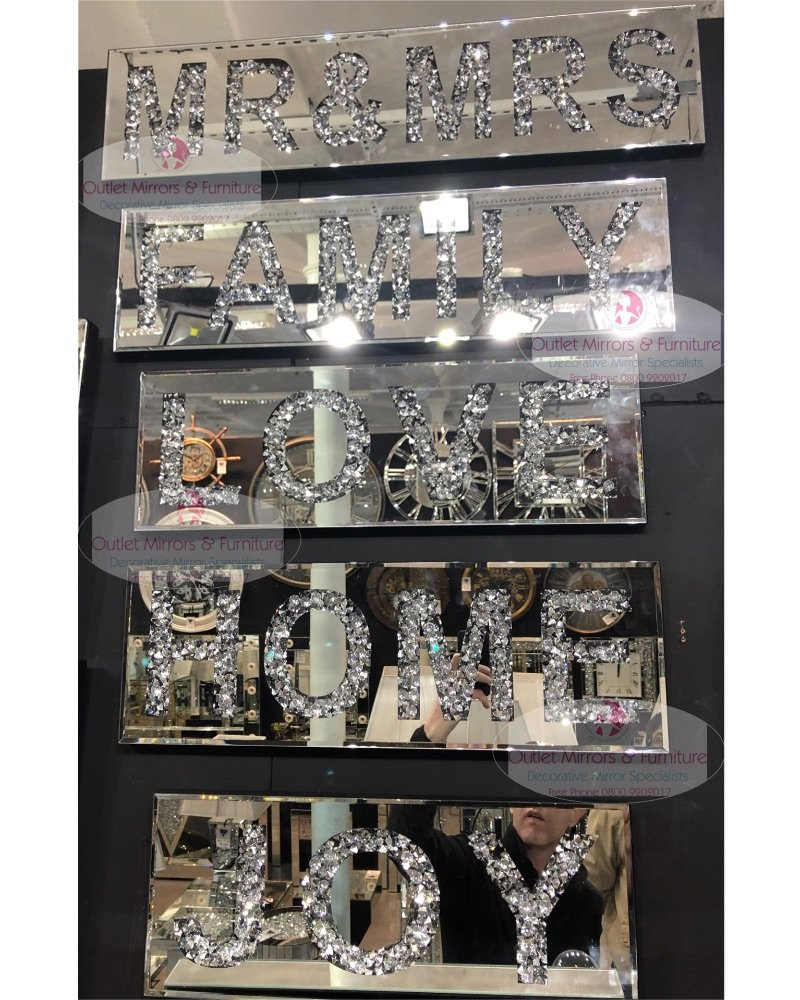 Diamond Crush Wall Plaques
