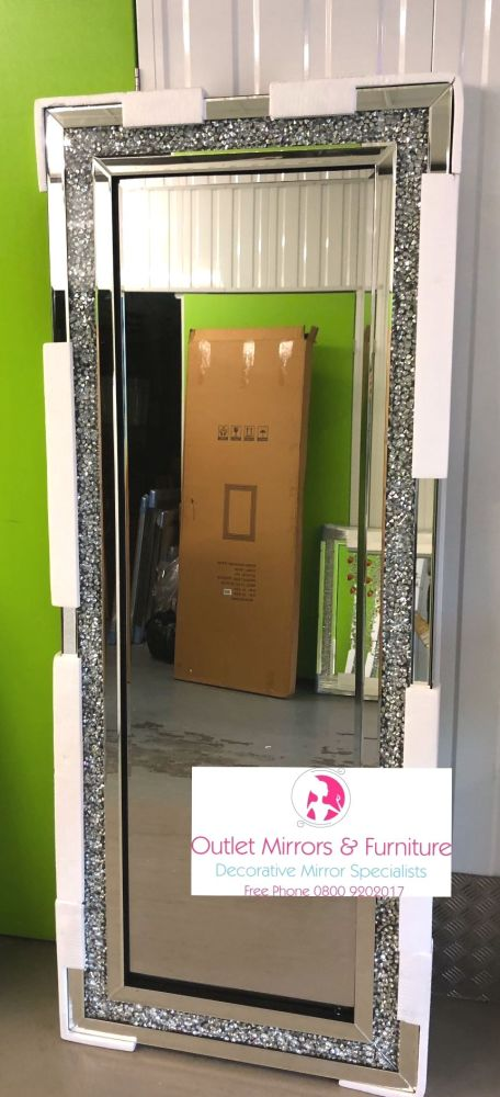 *special offer* New Diamond Crush Sparkle Wall Mirror 180cm x 70cm in stock