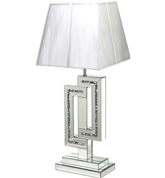 *Diamond Crush Crystal Sparkle Mirrored Links Table Lamp in stock
