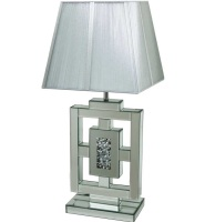 *Diamond Crush Crystal Sparkle Mirrored Box Table Lamp in stock