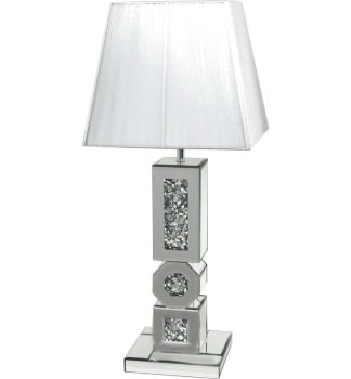 *Diamond Crush Sparkle Circles & Squares Table Lamp
