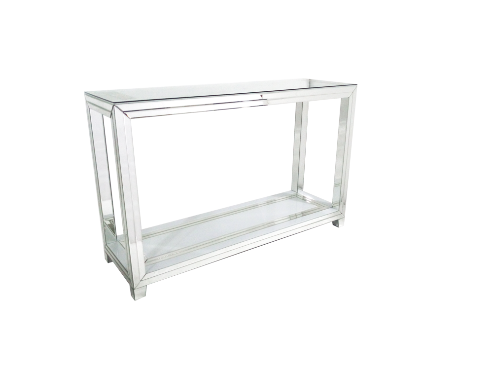 Bianco White & Mirrored Console Table