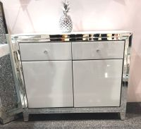 Bianco White & Mirrored 2 draw 2 Door Sideboard