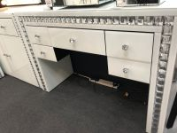 Crystal Border mirrored 5 draw Dressing Table