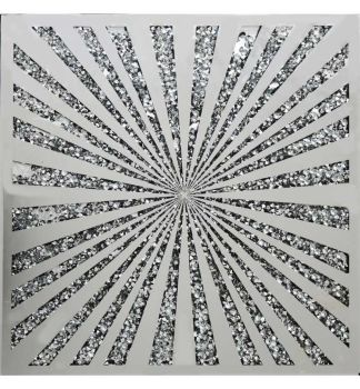""" New Diamond Crush Sunburst Panel Wall Art  item in stock"