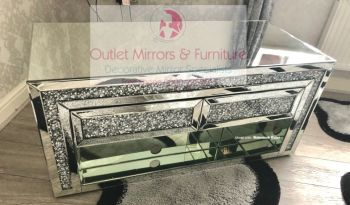 * Diamond Crush Sparkle Mirrored TV Entertainment Unit in stock