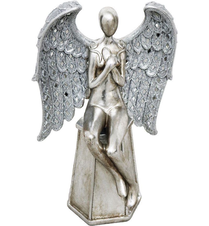 Sitting Angel with Folded Arms