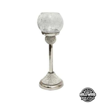 Hollywood Walk of Fame Diamante Rounded Tea Light Holder small
