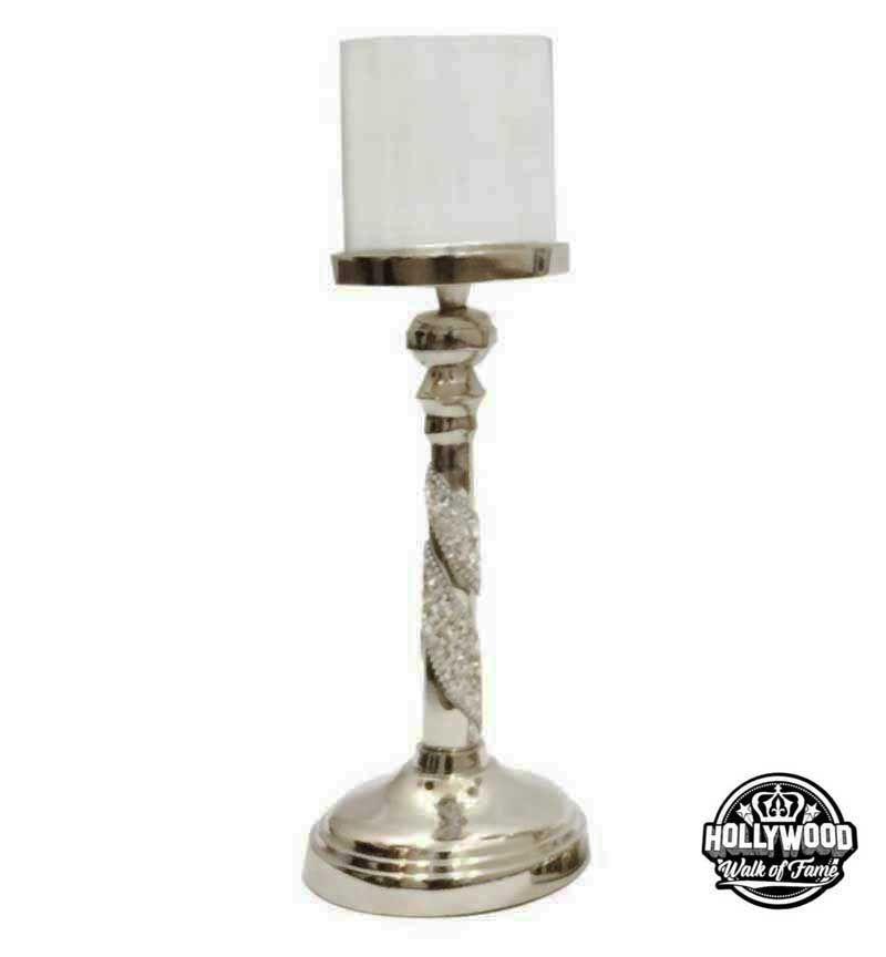 Hollywood Walk of Fame Swirl Diamante Tea Light Holder small