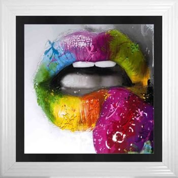 "Patrice Murciano Framed ""Strawberry Lips"" print"