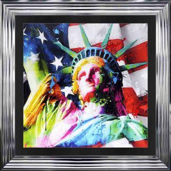 "Patrice Murciano Framed ""Liberty"" print 90cm x 90cm"