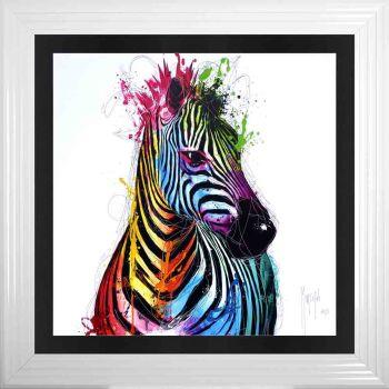 "Patrice Murciano Framed ""Zebra"" print 90cm x 90cm"