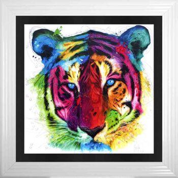 "Patrice Murciano Framed ""Tiger"" print 90cm x 90cm"